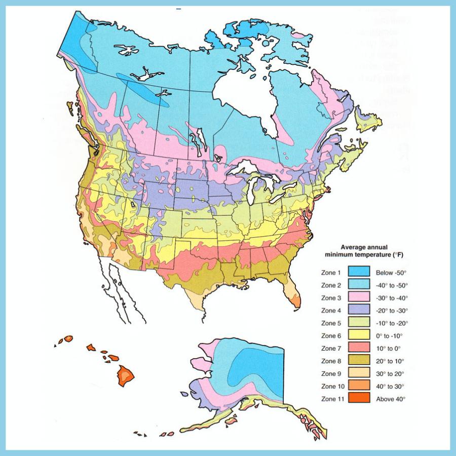north american usda hardiness map